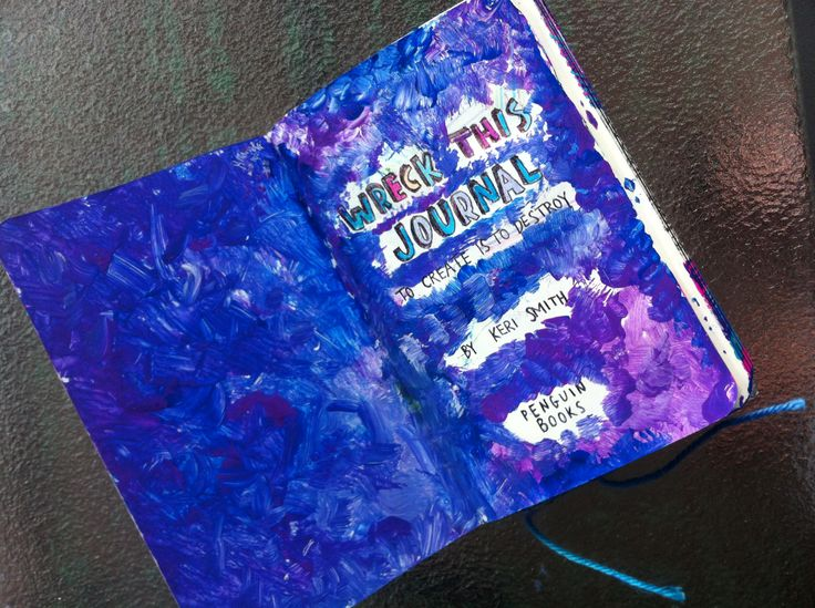 My inside cover. Made a mess with markers. Had to paint over it. Looks much better.