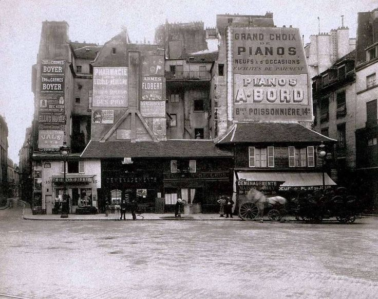 100 Photo du vieux Paris: La place Saint Andre des Arts en 1898   Eugene Atget