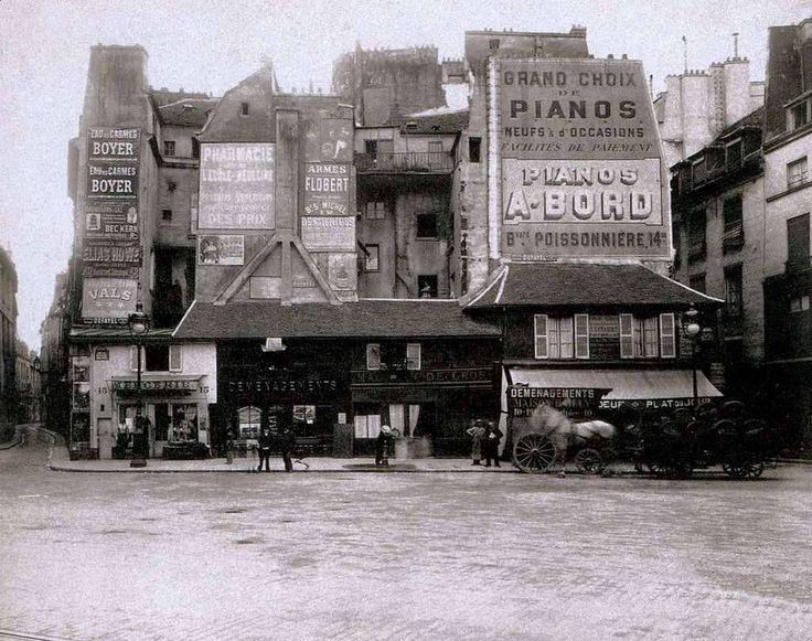 La place Saint Andre des Arts en 1898   Eugene Atget....reépinglé par Maurie Daboux ❥•*`*•❥