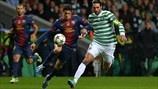 Giorgos Samaras (Celtic FC) & Marc Bartra (FC Barcelona)   FC Barcelona 1-2 Celtic. 07.11.12.