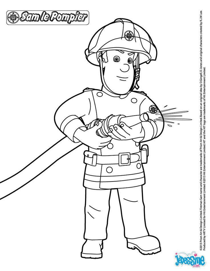 Les 8 meilleures images du tableau coloriage sam le - Dessin sam le pompier ...