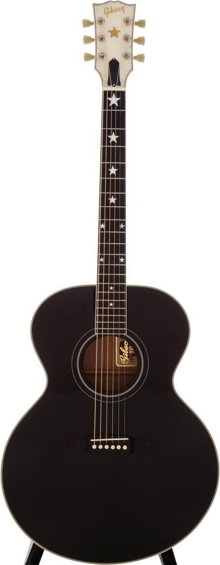 1993 Gibson J-180 EB Black Acoustic Guitar