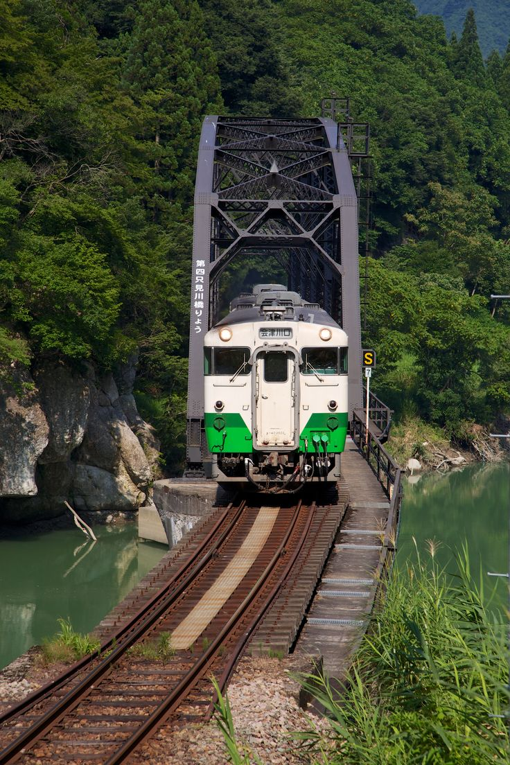 Diesel railcar (JR Tadami Line/Aizu-mizunuma - Aizu-Nakagawa, Fukushima, JAPAN)