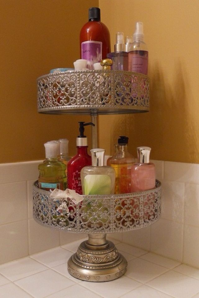 YES. This is such a good idea...one tray is never enough space, but a tiered cake tray is perfect.