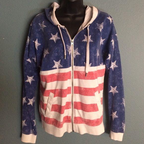 LA HEARTS. Size S American Flag hoodie LA HEARTS size small American flag printed Hoody LA Hearts Tops Sweatshirts & Hoodies