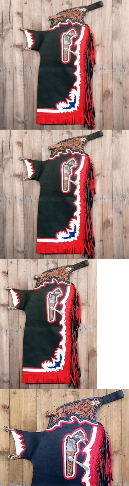Western Chaps Full Chaps 183358: Ch815f- Hilason Bull Riding Genuine Leather Pro Rodeo Western Chaps Black -> BUY IT NOW ONLY: $198.99 on eBay!