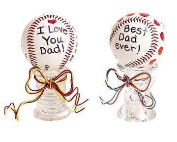 Autographed Baseball    Remind Dad how much he means to you with this personalized baseball that sends dear sentiments.