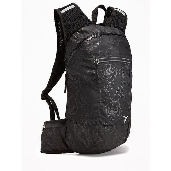 Old Navy Womens Run Backpack ($22) ❤ liked on Polyvore featuring bags, backpacks, mesh backpack, backpack bags, padded bag, floral rucksack and floral pouch