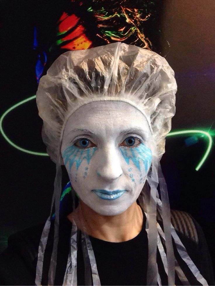 My jellyfish face paint designed by me.
