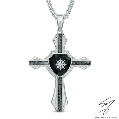 Zales Mens Cross Pendant in Sterling Silver (8 Characters) - 24 6WjQIrmkh