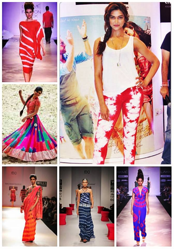 The vibrant Leheriya or Tye & Dye from Rajasthan is back in fashion. The Leheriya pattern is no longer limited to just a Saree, Lehenga or Dupatta but has also taken the form of western wear like tops, skirts, denims, maxi dresses, jumpsuits, kaftans, sarongs and even bikinis. Designers are reviving Leheriya and making it a fashionable choice for the young & trendy. With the vibrant colours, it's so easy to team it up in different ways every time you wear it.