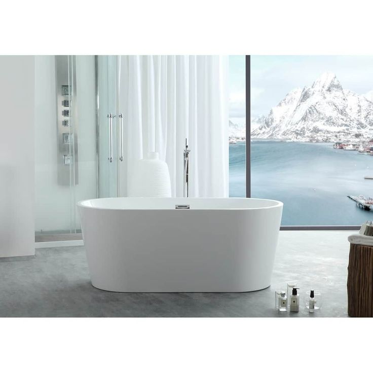 "Virtu USA Serenity 67"" Freestanding Soaking Bathtub Only"