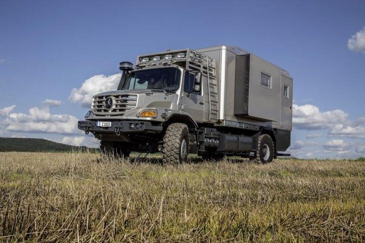 최고의 모빌홈 메르세데스 벤츠 Zetros Mercedes-Benz Zetros as top-class mobile home 최대의 안정성...
