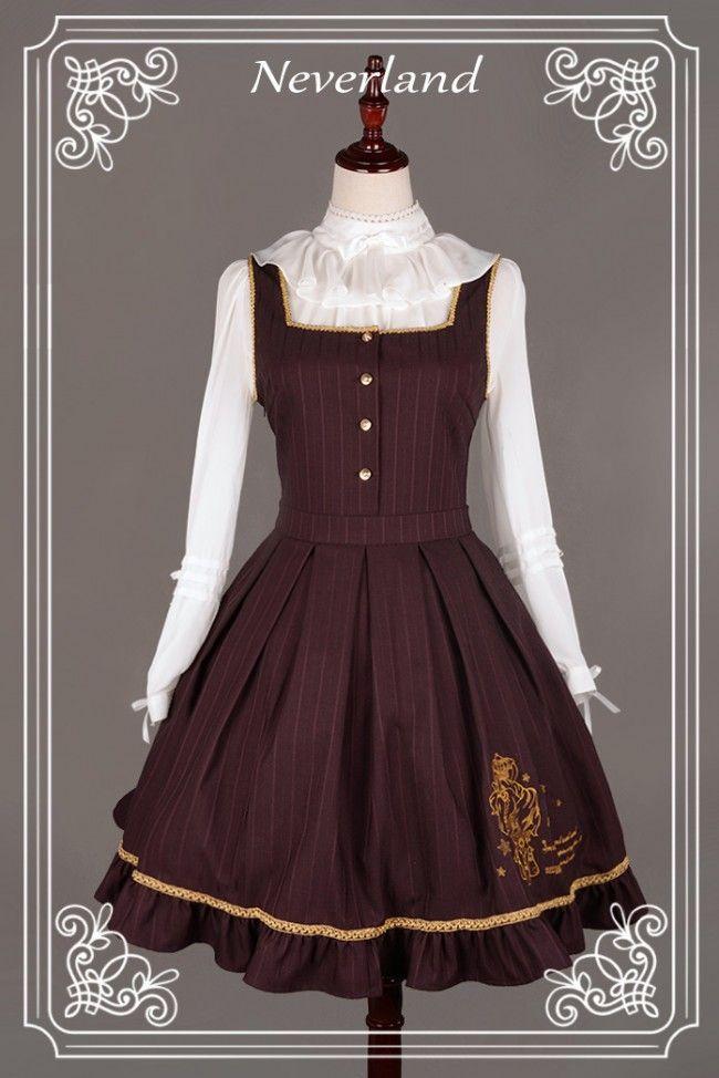 Neverland Lolita ~Eternal Sirius~ College School Style Lolita Jumper Dress - My Lolita Dress