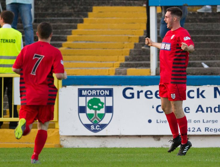 Queen's Park's Thomas Orr in action during the Betfred Cup game between Morton and Queen's Park.