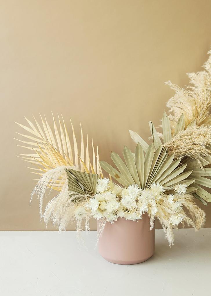 Dried Flower Palm Leaves Plant Bouquet Home Wedding Party Artificial Plant Decor