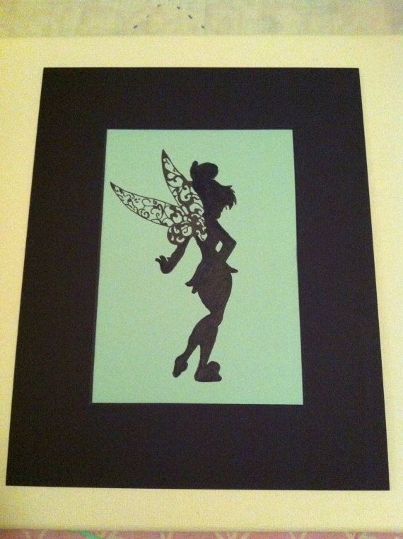 Tinkerbell- cool silhouette idea.