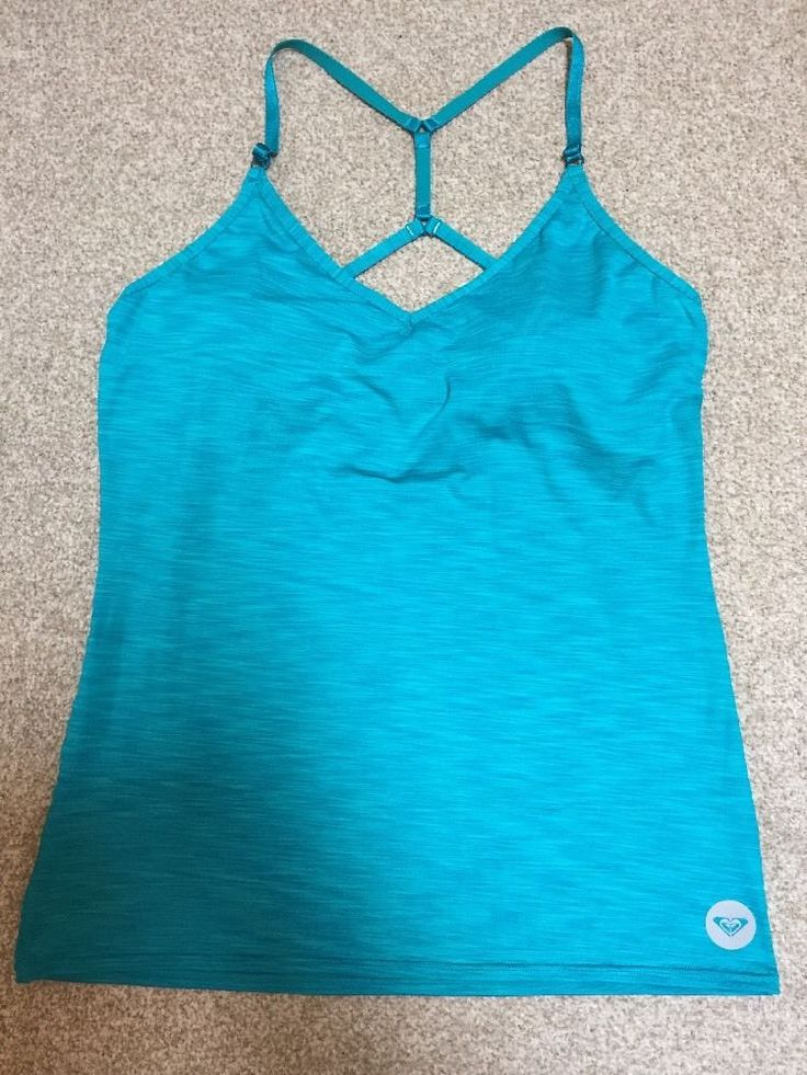 ROXY Ladies Sport Top with inbuilt Bra & removable pads XL-TG-EG BNWOT