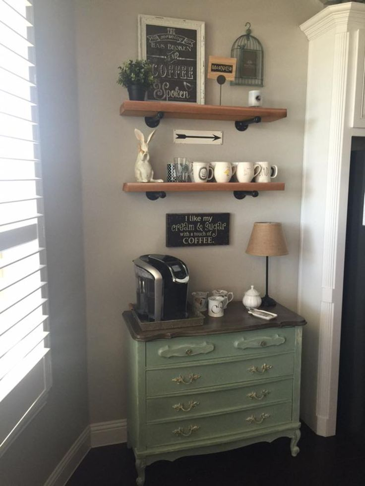 25 best ideas about coffee nook on pinterest coffee for Kitchen coffee bar ideas
