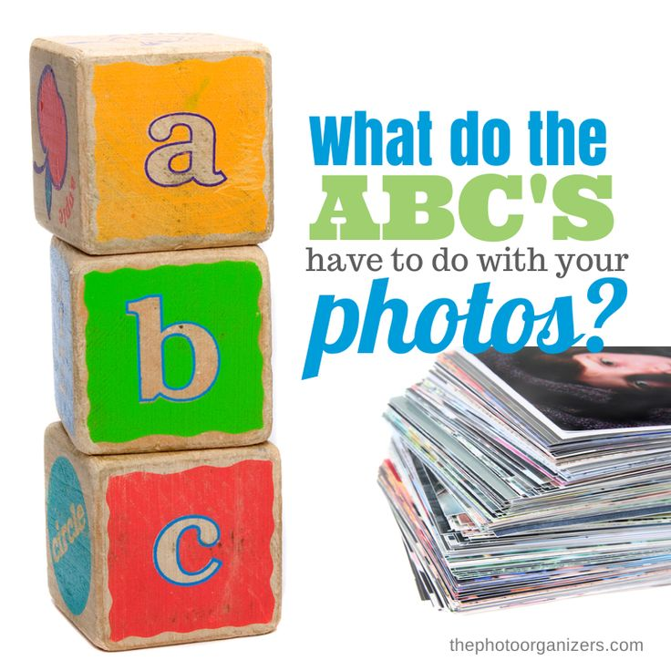 Organize Your Photo Life: What are the ABC's? A great approach to sorting printed photos so you can remember what to keep and what to throw out.