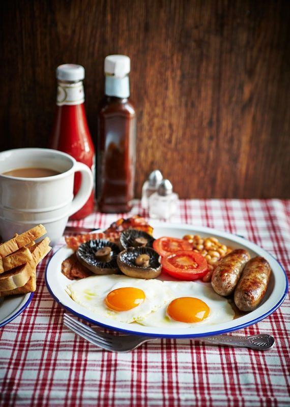 The full English breakfast.  I am not a huge breakfast eater but I need to get the full UK experience.  My husband would have no problem consuming this!