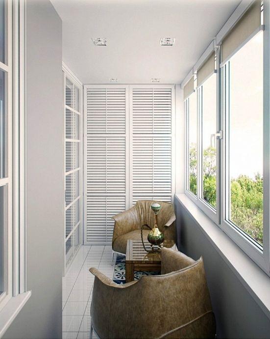 Лоджия в кирпично-монолитном доме - Дизайн интерьеров   Идеи вашего дома   Lodgers