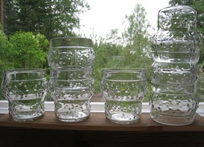 """Juomalasi"", Riihimäen lasi, Finland. - Classic Finnish glass tumblers for juice."