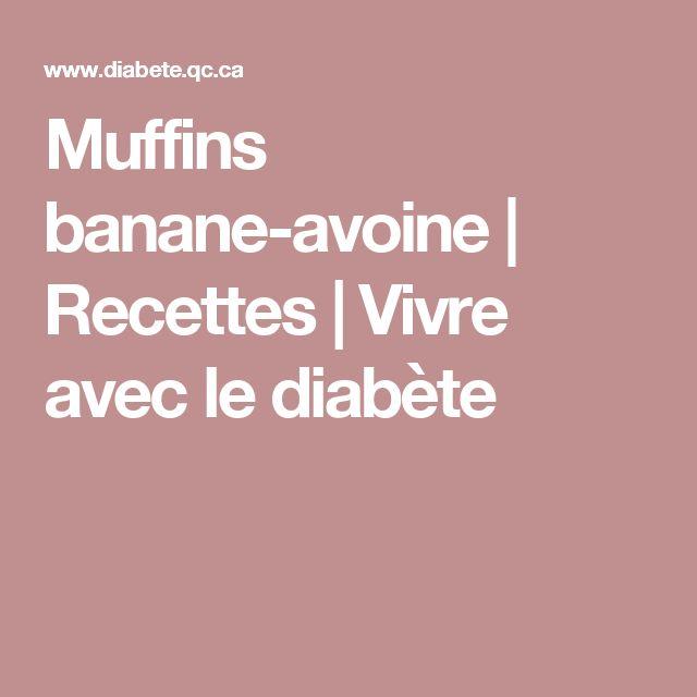 Muffins banane-avoine | Recettes | Vivre avec le diabète