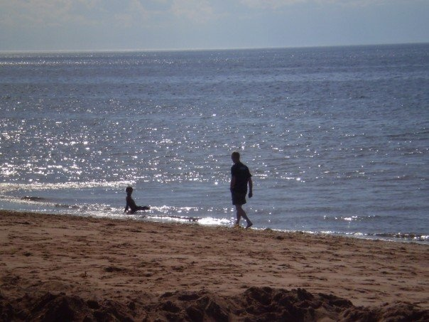 Dad and my Nephew Tristyn  Bloomfield, PEI   Taken by Moi