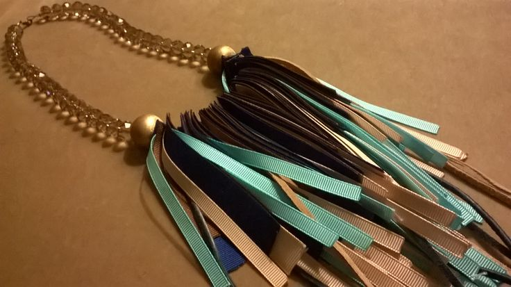 necklace with ribbons