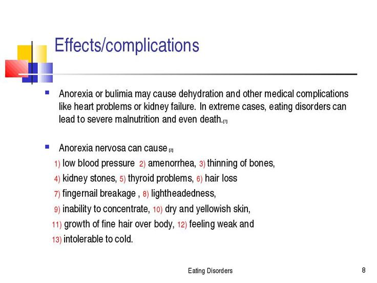 Medical Complications from Eating Disorders