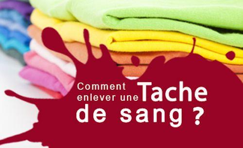 Tache de sang sur un vêtement.