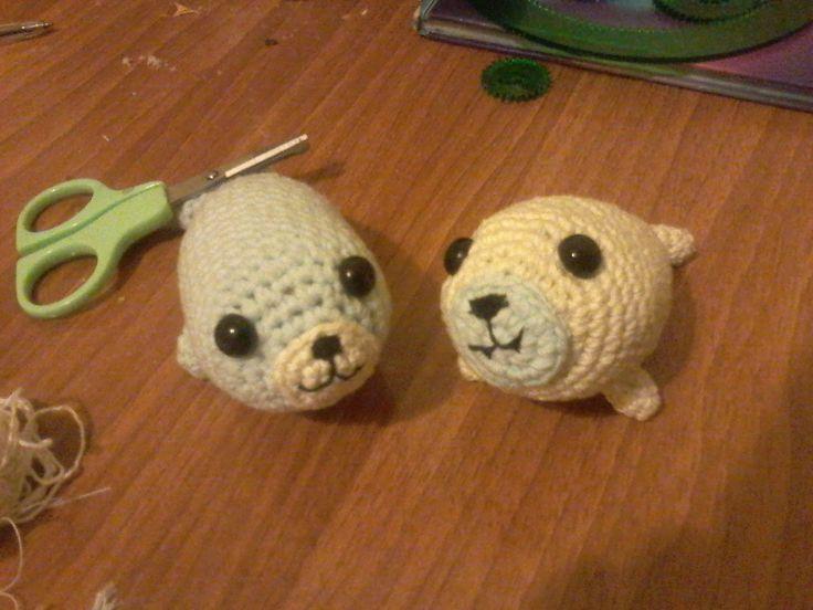 А здесь мои морские котики. Связаны для моих племянников. #вязаная игрушка, #amigurumi, #морские котики