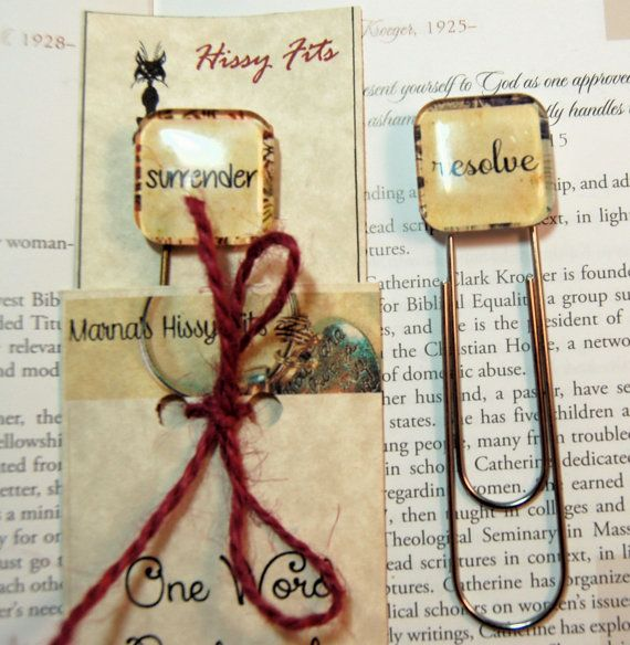 One Word Custom Bookmark Your Word for 2014 on by MarnasHissyFits, $6.00 What's your word for 2014?