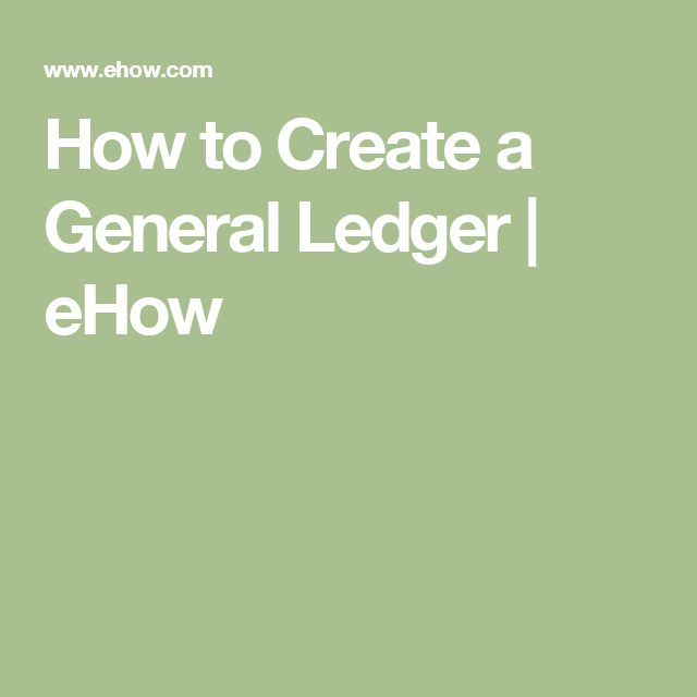 The 25+ best General ledger ideas on Pinterest Financial - business ledger example