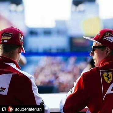 Raikkonen and Vettel