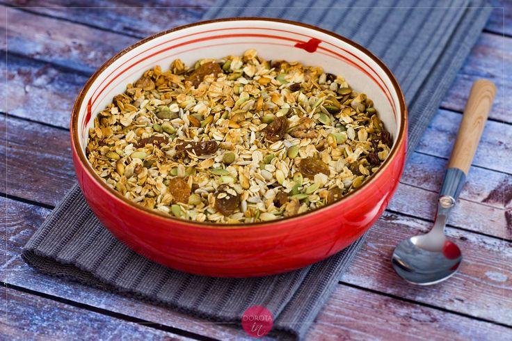 Domowa granola, najlepsza, bo ze sprawdzonym składem :). #granola #śniadanie #przepis #jedzenie #kuchnia