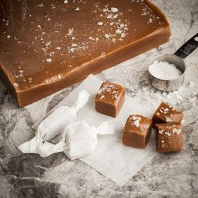 Salted Caramels, a recipe from ATCO Blue Flame Kitchen's Holiday Collection 2014 cookbook.