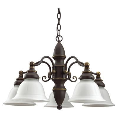 Sea Gull Lighting - 5 Light Antique Bronze Incandescent Chandelier - 31051-71 - Home Depot Canada