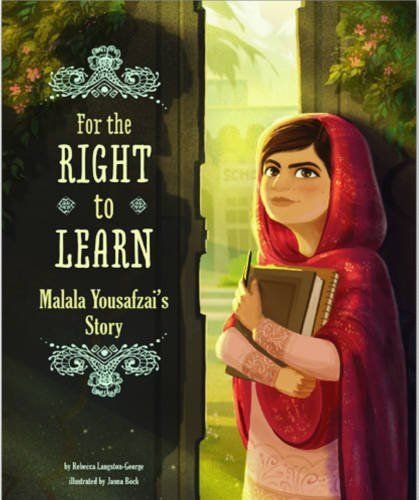 For the Right to Learn: Malala Yousafzai's Story (Encounter: Narrative Nonfiction Picture Books) by Rebecca Langston-George http://www.amazon.com/dp/162370426X/ref=cm_sw_r_pi_dp_1WPYvb06ZA8A4