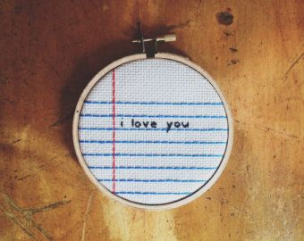 cross stitch notebook paper - Google Search cute, simple lines.. back stitch and straight stitch