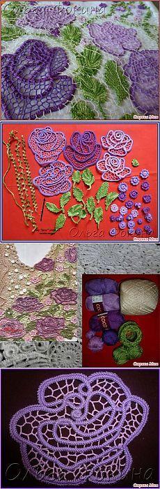 Ирландское кружево (из интернета) часть 2 / Вязание крючком / Женская одежда крючком. Схемы.
