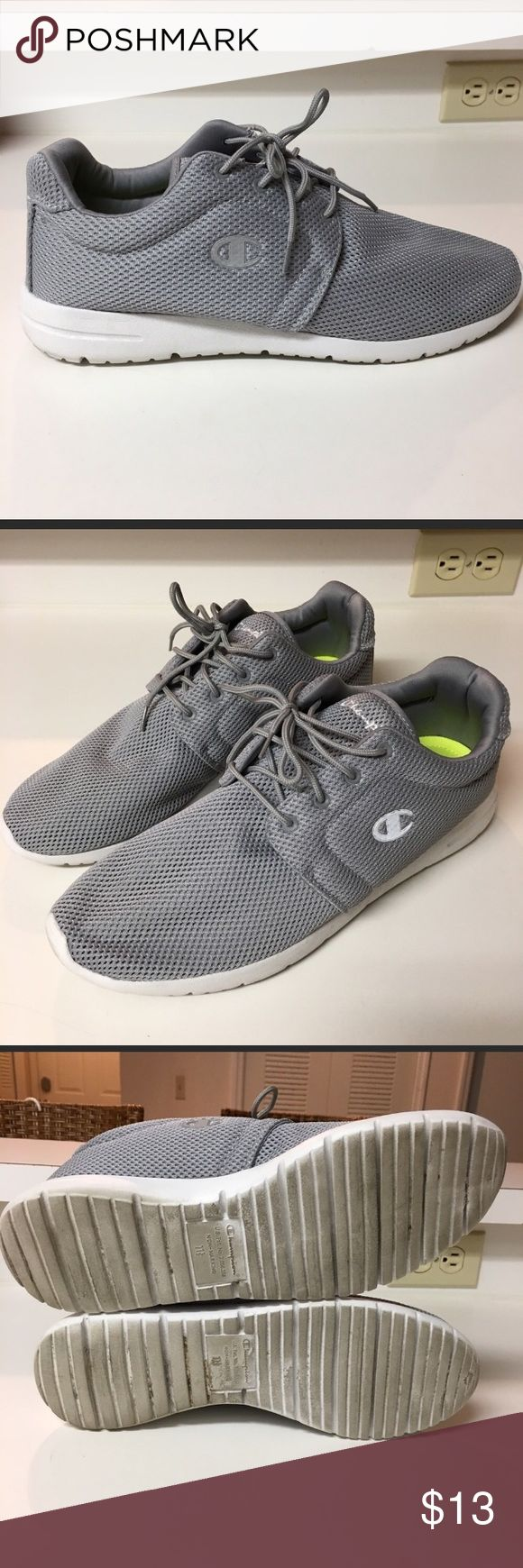 Men's Champion shoes: memory foam, light weight. Men's Champion shoes with memory foam insoles, very light weight and comfortable. Size 11.5. Slightly too big for me, gently used just a few times. Champion Shoes Athletic Shoes