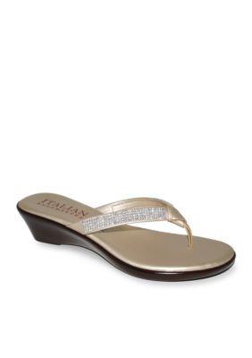 Italian Shoemakers Platinum Ivory Sandal