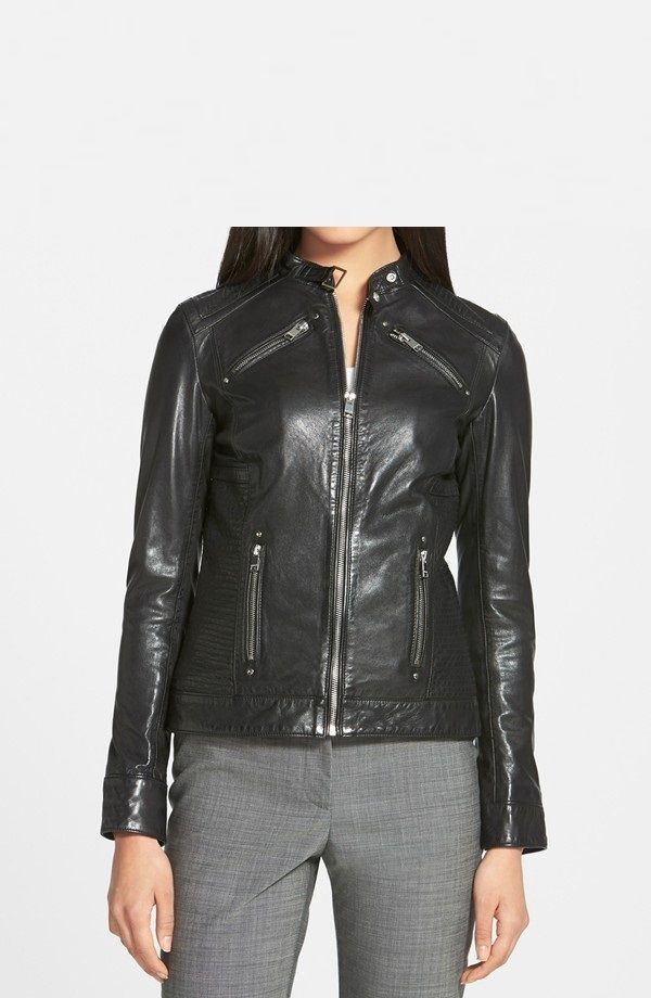 Details about Black Friday Women's Slim Fit Genuine Lambskin ...