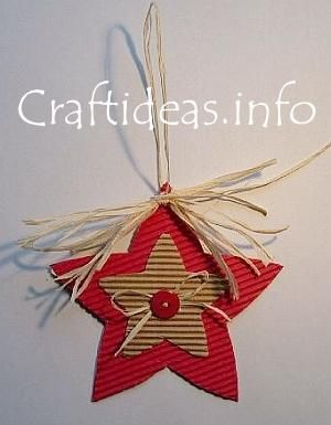 Recycled Ornaments for Kids @Craft Gossip.com: This craft from Craft Ideas is appropriate for about 8 and up. It would be great for a lesson on recycling during the holidays as it is made from corrugated cardboard. (Download the PDF)
