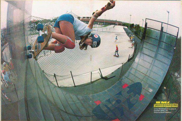 Cindy Whitehead. Wild World of Skateboarding Magazine. Fountain Valley 360 ramp.