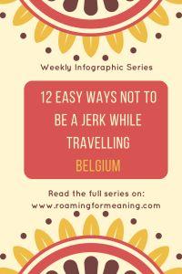 cultural etiquette infographic belgium