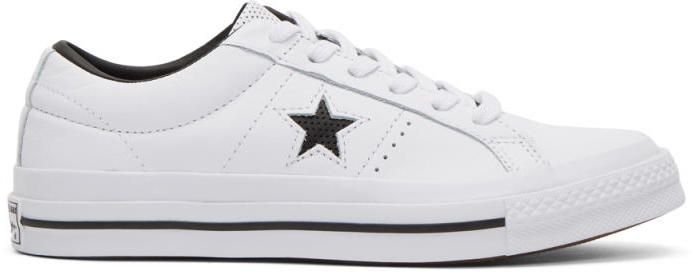 Converse White One Star OX Sneakers