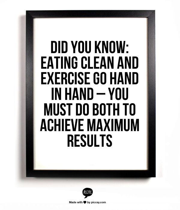 Eating clean + exercise.